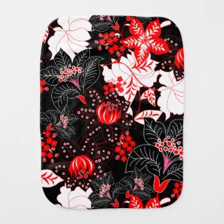 Ausführliches rotes tropisches Blumen Baby Spucktuch