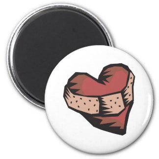 Ausgebessertes Herz Runder Magnet 5,1 Cm