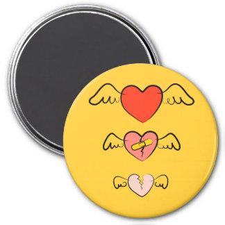 Ausgebessertes Herz Runder Magnet 7,6 Cm