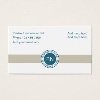 Ausgebildete Krankenschwester einzigartiges Visitenkarte