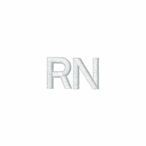 Ausgebildete Krankenschwester - RN auf Front und R