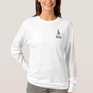 Ausgebildete Krankenschwester RN-Logo Besticktes Langarmshirt