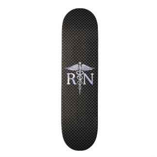 Ausgebildete Krankenschwester RN silberne Skateboardbrett