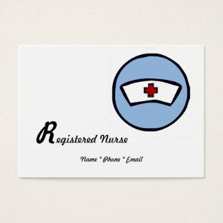 Ausgebildete Krankenschwester Visitenkarte