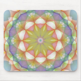 Ausgebogtes Blumen-Mehrfarbenkaleidoskop Mousepad
