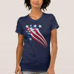 Ausgedehnter amerikanische Flaggen-T - Shirt