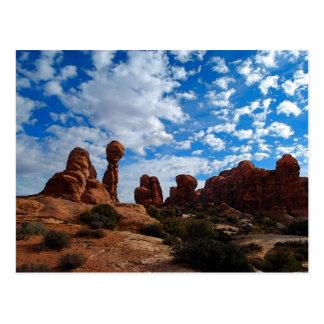 Ausgeglichener Felsen, Bögen Nationalpark, Utah Postkarten