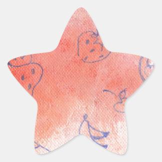 ausgereifte Wiese Stern-Aufkleber