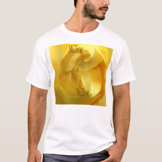 ausgereifter gelber Rosen-T - Shirt