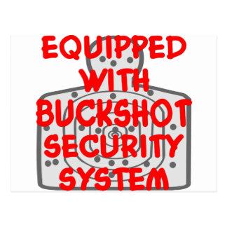 Ausgerüstet mit Rehposten-Sicherheitssystem Postkarte