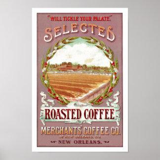 Ausgewählter gebratener Kaffee Poster