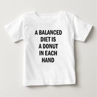 Ausgewogene Diät Baby T-shirt