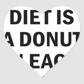 Ausgewogene Diät Herz-Aufkleber