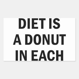 Ausgewogene Diät Rechteckiger Aufkleber