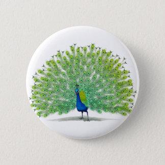 Ausgezeichnete Pfau-Kunst Runder Button 5,7 Cm