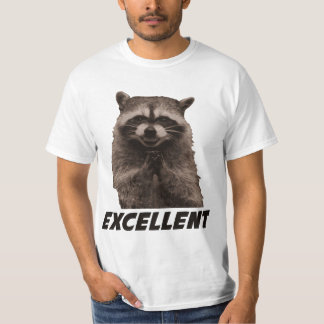 Ausgezeichneter schlechter Darstellungs-Waschbär T-Shirt