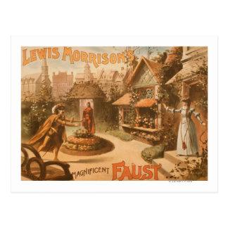 Ausgezeichnetes Faust-Theater Lewis-Morrisons Postkarte