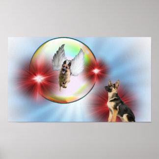 Ausgezeichnetes Schäferhund-Engels-Fliegen Poster