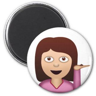 Auskunfts-Person Emoji Runder Magnet 5,1 Cm