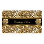 Auslese-Geschäfts-Goldelegantes Glitter-Juwel Visitenkarten