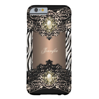 Auslese-Kaffeezebra-Schwarz-Perle Brown 4 Barely There iPhone 6 Hülle