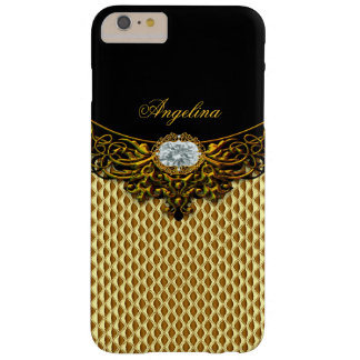 Auslese-königliches Goldbienenwaben-schwarzer Barely There iPhone 6 Plus Hülle
