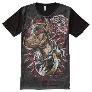 Auslese PitBull amerikanisches Staffordshire T-Shirt Mit Bedruckbarer Vorderseite