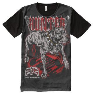 Auslese PitBull Jägerart T-Shirt Mit Komplett Bedruckbarer Vorderseite