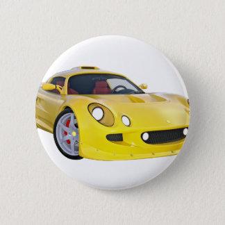 Auslese-Rennwagen im Gelb Runder Button 5,1 Cm
