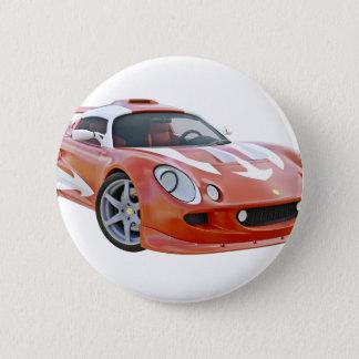Auslese-Rennwagen in Rotem und in weißem Runder Button 5,7 Cm