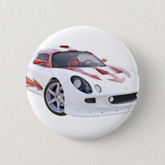 Auslese-Rennwagen in weißem und in Rotem Runder Button 5,7 Cm