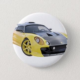 Auslese-Rennwagen mit Gelb und einem schwarzen Runder Button 5,7 Cm