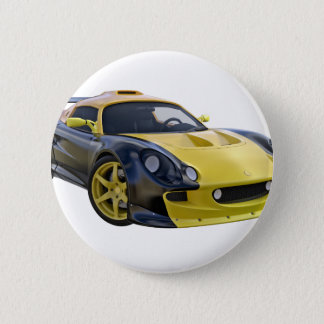 Auslese-Rennwagen mit Schwarzem und einem gelben Runder Button 5,7 Cm