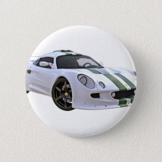Auslese-Rennwagen mit Weiß und Grün Runder Button 5,7 Cm