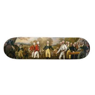 Auslieferung von General Burgoyne durch John Bedrucktes Skateboard