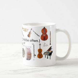 """Ausrichtung. 11 Unze. """"Musik ist Leben!  (Trinken Tasse"""
