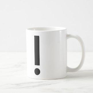 Ausrufezeichen Kaffeetasse