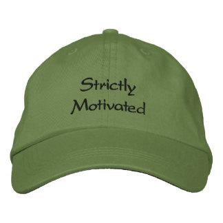 Ausschließlich motiviert bestickte kappe
