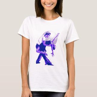 Ausschließlich Salsa-Blau-Schatten T-Shirt