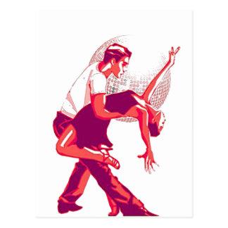 Ausschließlich Salsa-Rot-Schatten Postkarte