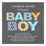 Ausschnitt beschriftet Babyparty-Einladung -