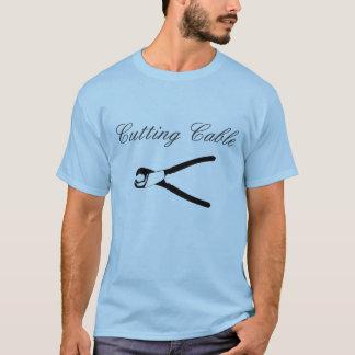 Ausschnitt-Kabel-Shirt T-Shirt