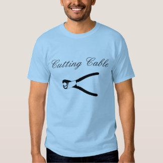 Ausschnitt-Kabel-Shirt T Shirts