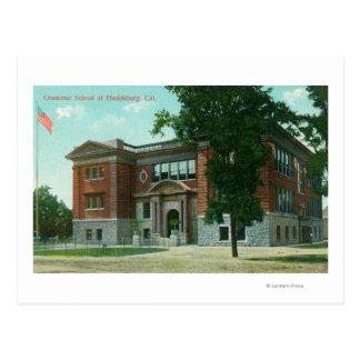 Außenansicht der Mittelschule 3 Postkarte