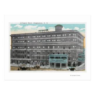 Außenansicht des Arlington-Hotels Postkarte