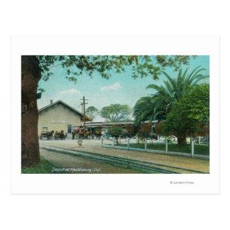 Außenansicht des DepotHealdsburg, CA Postkarte