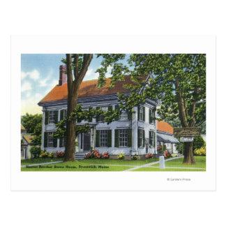 Außenansicht des Hauses Harriet Beecher Stowe Postkarte