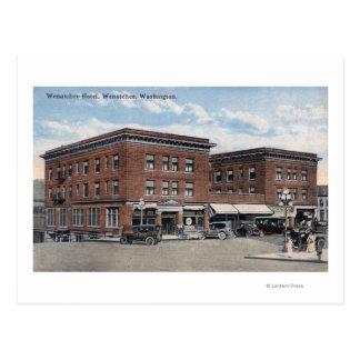Außenansicht des Wenatchee Hotels Postkarte