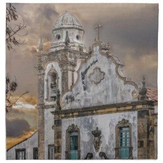 Außenfassaden-Antiken-Kolonialkirche Olinda Serviette