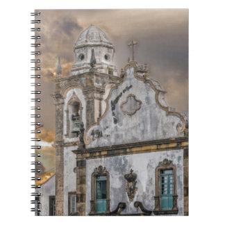 Außenfassaden-Antiken-Kolonialkirche Olinda Spiral Notizblock
